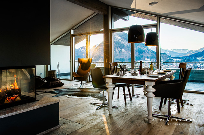 moderne chalet suiten im allg u h ttenurlaub in allg u mieten alpen chalets resorts. Black Bedroom Furniture Sets. Home Design Ideas